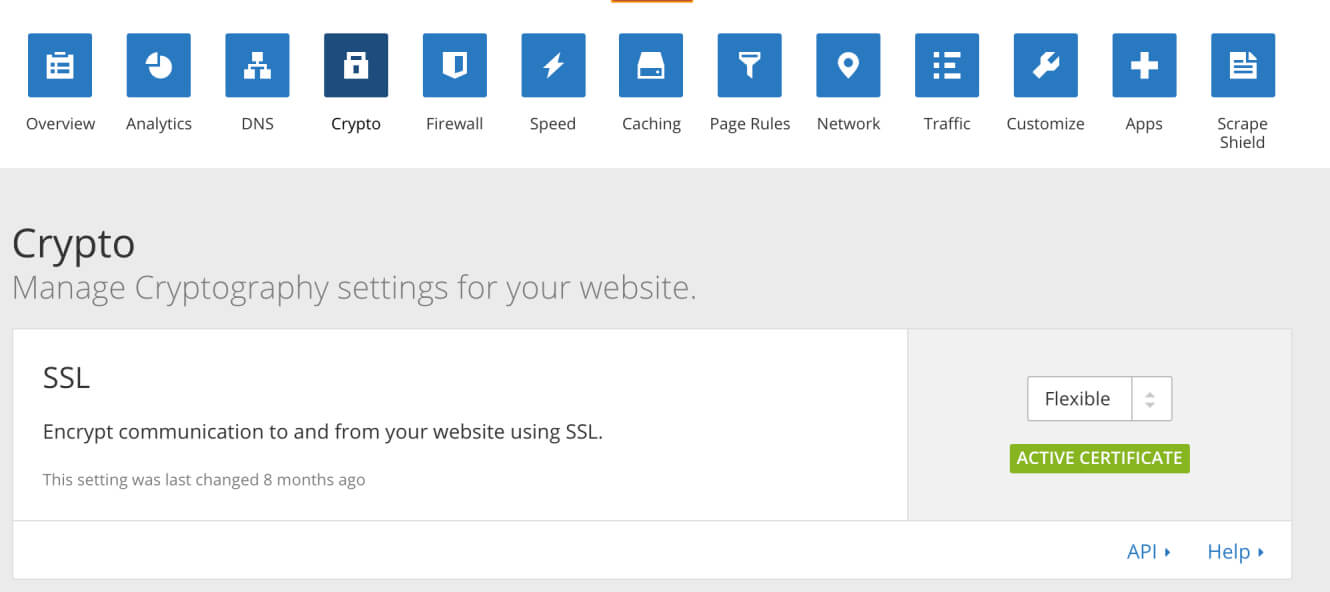 Setting up CloudFlare's SSL certificate on your site